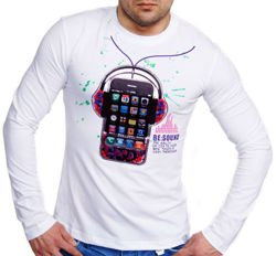 EXTRA LONGSLEEVE iPHONE BIALY A-1050